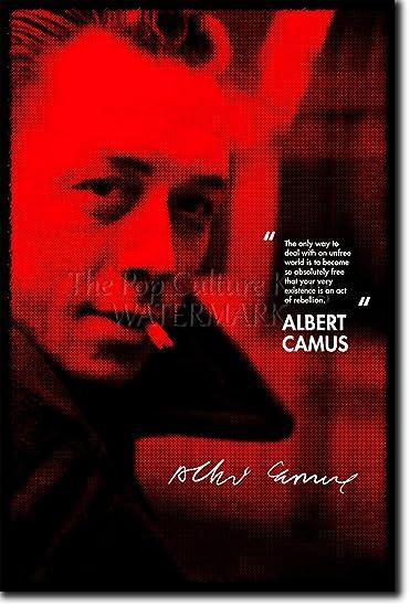 Amazon.com: Albert Camus Art Print Photo Poster 12x8 Inch Unique ...