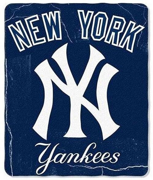Amazon New York Yankees Lightweight Rolled Throw Blanket Custom Yankees Throw Blanket