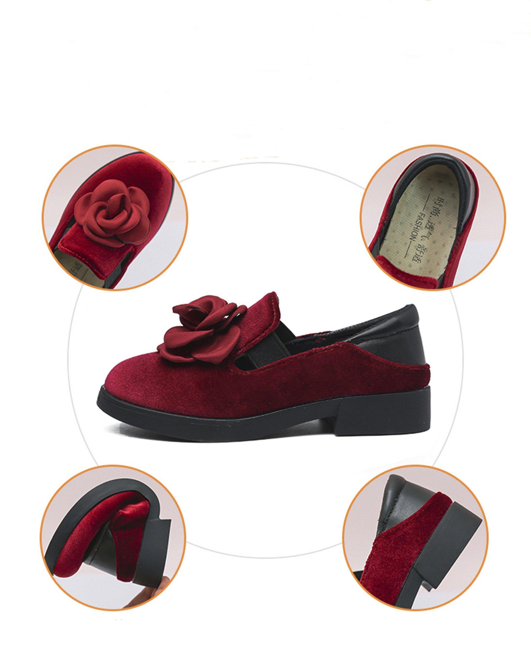 Kikiz Girls Dress Faux Suede Mary Jane Ballet Ballerina Flat Slip On Boat Shoes
