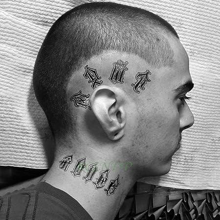 Handaxian Etiqueta engomada del Tatuaje 5pcs Número de Letra en ...