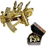 Brass Nautical Buy Sextant Marine Navigation in Gift Box from Brass Nautical