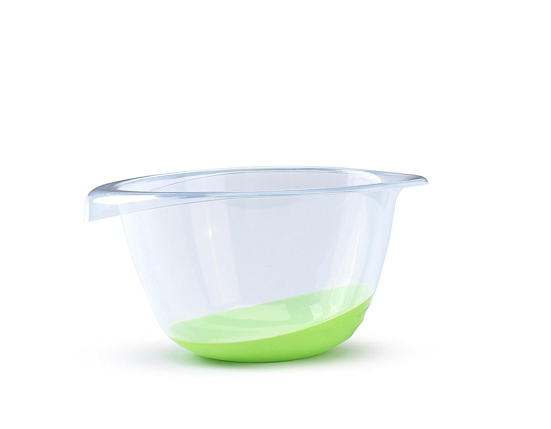 6.3 Quart Non-Slip Base and Pouring Lip 6 Liter Whitefurze Premium Mixing Bowl Clear//Blue