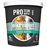 Earnest Eats PRO: Protein + Probiotic Superfood Oatmeal, Gluten Free, Coconut Warrior, 2.5oz Cup, 12-Pack, 15g Protein per Se