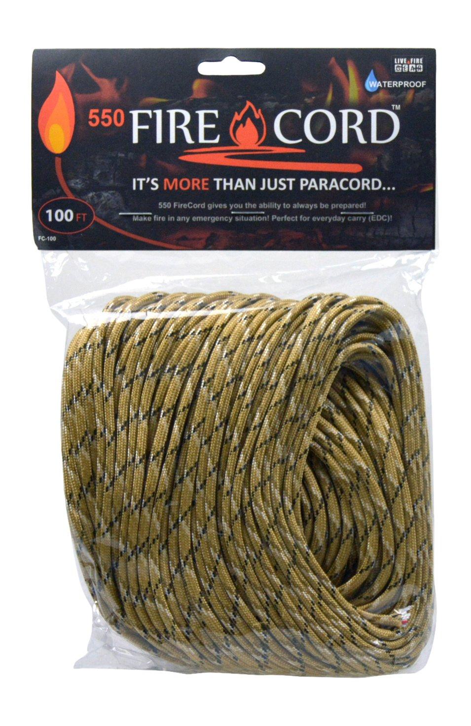 Live Fire Live Fire FireCord 100ft Desert Storm