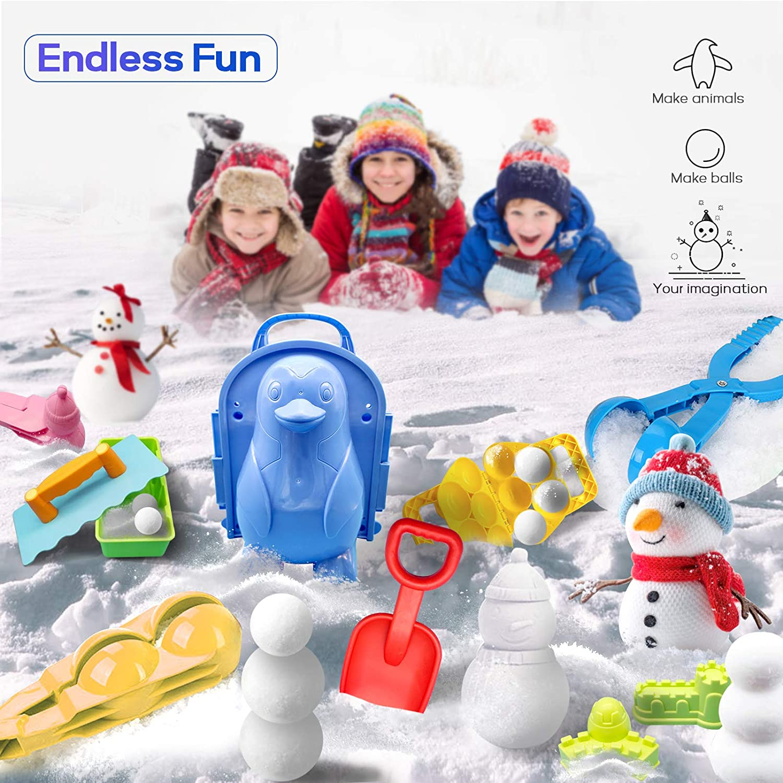 Tondeuse Boule de Neige Ext/érieure Double Ronde pour Enfants FBGood Snowball Maker Snow Toys pour Les Enfants en Plein Air Jouets dhiver Snow Play Jeux Boys