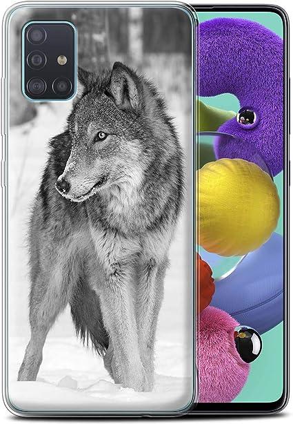 Stuff4 Coque Gel TPU de Coque pour Samsung Galaxy A51 2020 / Loup Design/Animaux de Zoo Collection