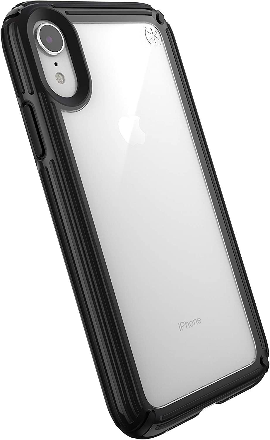 Speck Products Presidio V-Grip iPhone XR Case, Clear/Black