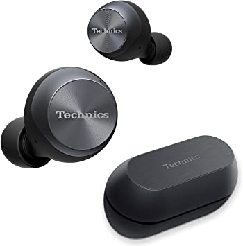 Amazon Com Technics True Wireless Earbuds With Industry Leading Noise Cancelling Bluetooth Earbuds Dual Hybrid Technology Hi Fi Sound Compact Design Alexa Compatible Eah Az70w K Black Electronics