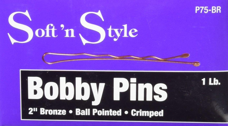 Soft 'N Style Bronze Bobby Pin Box, 1 lb, 2 H 2 H Burmax P75-BR