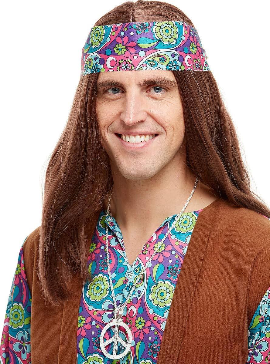 Funidelia | Colgante Hippie años 60 para Hombre y Mujer ▶ Años 60, Hippie, Flower Power, Accesorio para Disfraz, Medallón