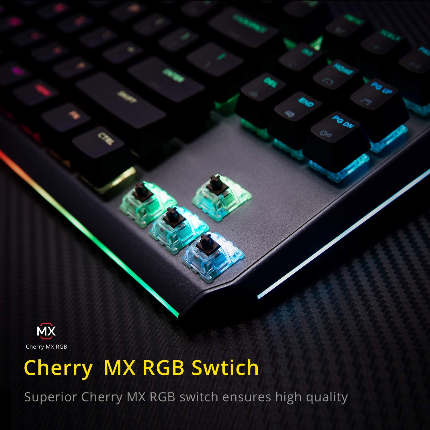 968518a1555 Amazon.com: DREVO BladeMaster PRO Cherry MX Red Wireless 2.4G/Bluetooth 4.0/ USB TKL RGB Mechanical Gaming Keyboard with Programable Genius Knob:  Computers & ...