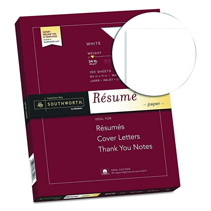 Southworth 100 Cotton Resume Paper 8 5 X 11 24 Lb