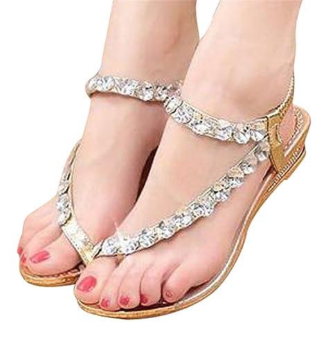 27b98c8a068867 Zvgdght Women Summer Sandals Blingbling Crystal Platform Wedges Shoes Woman  Golden Sliver Slip On Flip Flops