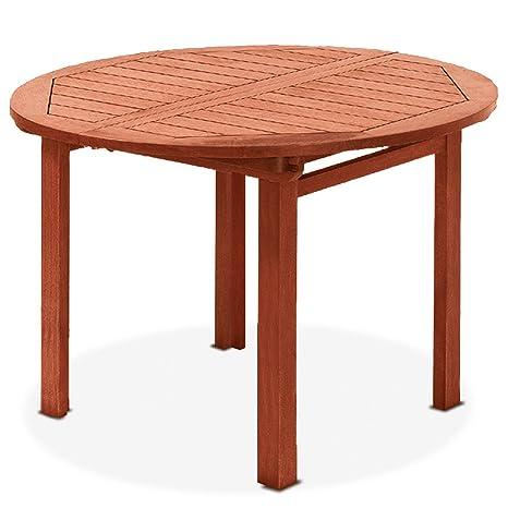 Tavolo tondo allungabile, in legno naturale 97/137x97x72 mod. Agave ...