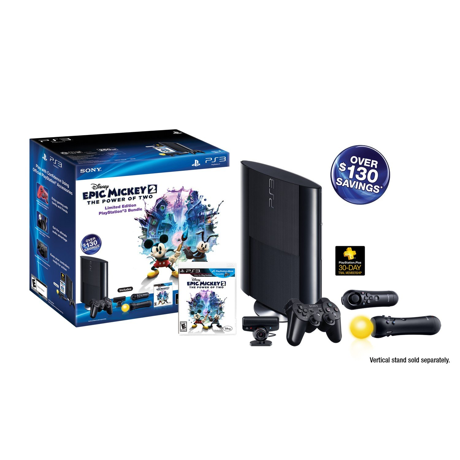 PS3 Slim 250GB Epic Mickey: Power of 2 Bundle (PlayStation 3)