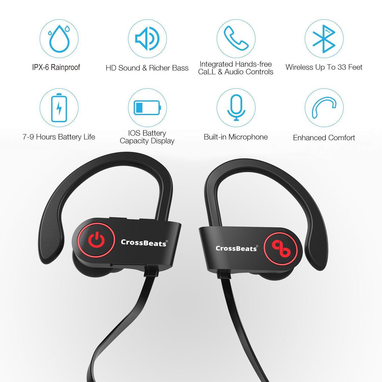1f3f072b4e1 CrossBeats Raga Wireless Bluetooth Earphones with: Amazon.in: Electronics