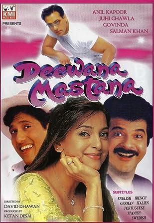 Amazon Com Deewana Mastana 1997 Hindi Comedy Film Bollywood