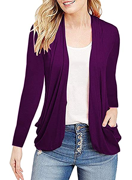 0bf748a6aa MIHOLL Women s Cute Lightweight Cardigans Long Sleeve Casual Cover up Fall  Tops (Small