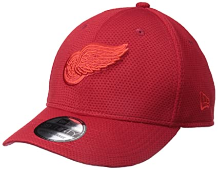 06387e0c7b1 New Era NHL Detroit Red Wings Adult Tone Tech Redux OTC 39THIRTY Stretch  Fit Cap