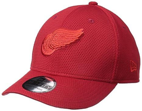 45cce0f9ac4f2 New Era NHL Detroit Red Wings Adult Tone Tech Redux OTC 39THIRTY Stretch  Fit Cap