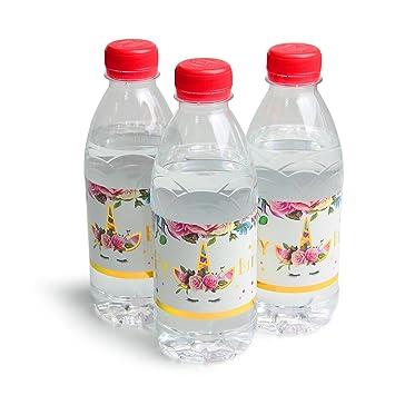AMZTM Etiqueta de Botella de Mágico Unicornio Decoraciones de Fiesta de Cumpleaños de Niñas 24 Piezas