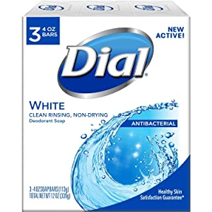 Dial Clean And Refresh Antibacterial Deodorant Bar Soap, White - 3 Ea/Pack ( Pack of 2 )