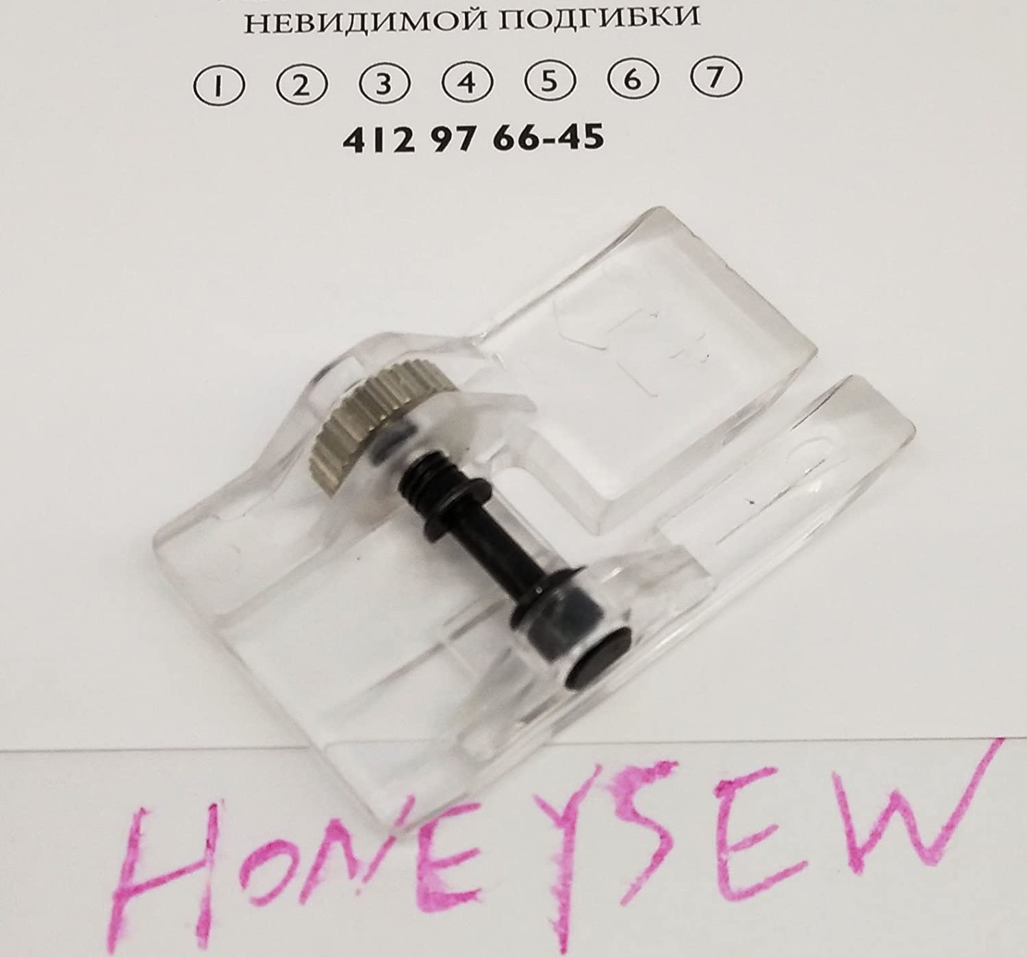 HONEYSEW Clear Embroidery Foot R for Viking 4128498-45