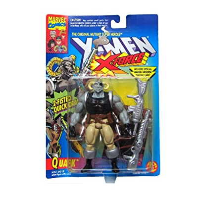 Quark Action Figure - X-Men / X-Force Series - 2 Fisted Quick Draw - Trading Card - Toy Biz - Marvel - Limited Edition - Collectible: Toys & Games