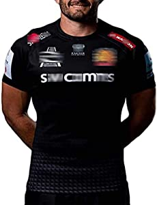 FGHR Rugby Jersey Mens T-Shirt Rugby Jersey Exeter Chiefs 2020 Outdoor Fit Sportswear Short Sleeve Sport Shirt Men's Casual Short Sleeve XL