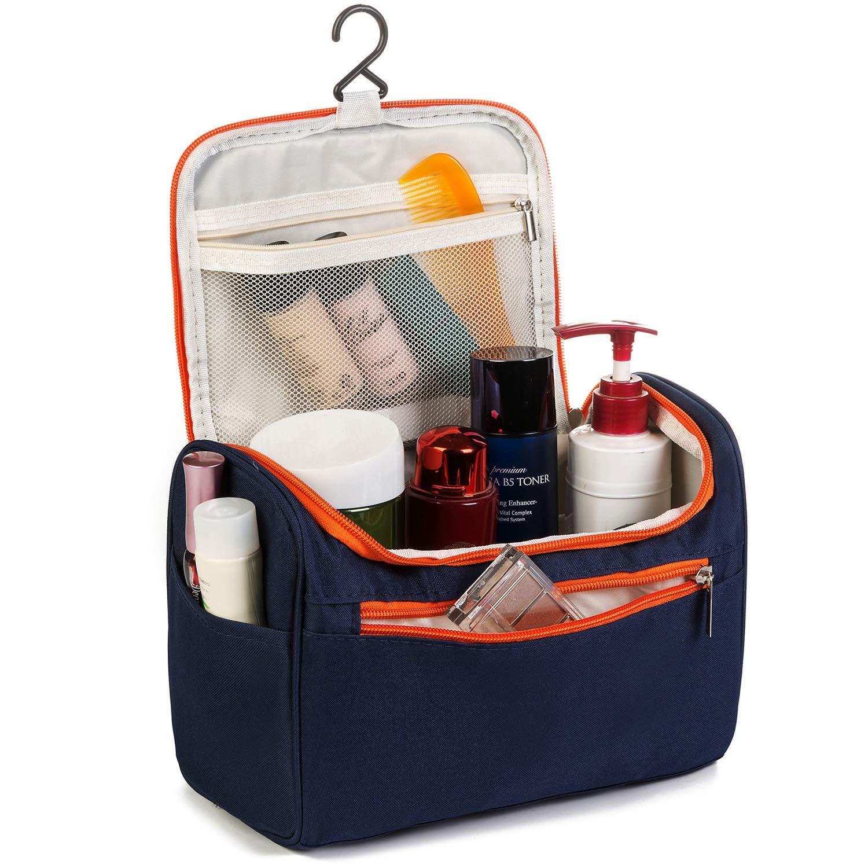 MODARANI Grey Travel Toiletry Bag Hanging Shaving Kit Traveling Case Gym Wash