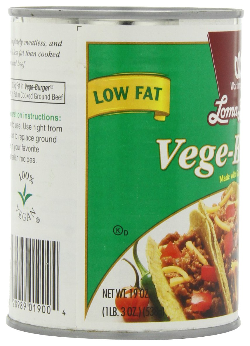 Loma Linda Vege-Burger, 19-Ounce Cans (Pack of 12) by Loma Linda (Image #8)
