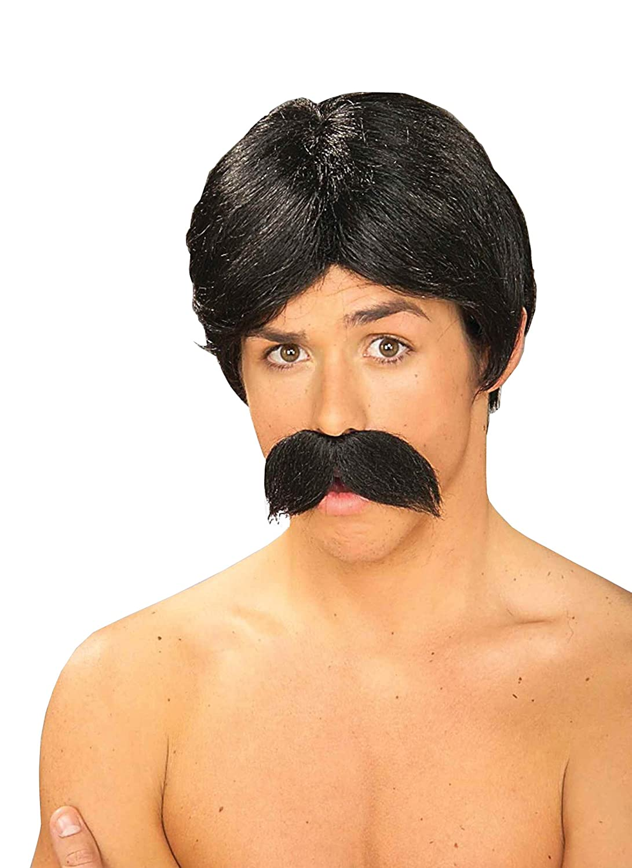 Forum Novelties Men's Burt The Bandit Novelty Wig and Mustache, Black, One Size Forum Novelties Costumes 59406