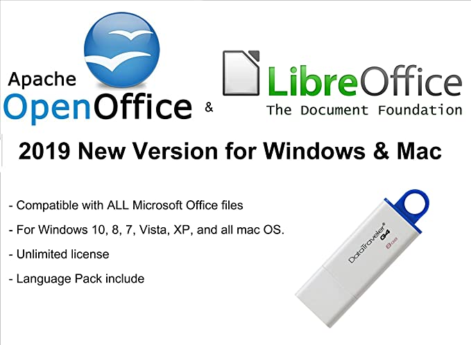 ✅ Apache Open Office & Libre Office 2019 New Version for Microsoft Windows  & Mac OS X