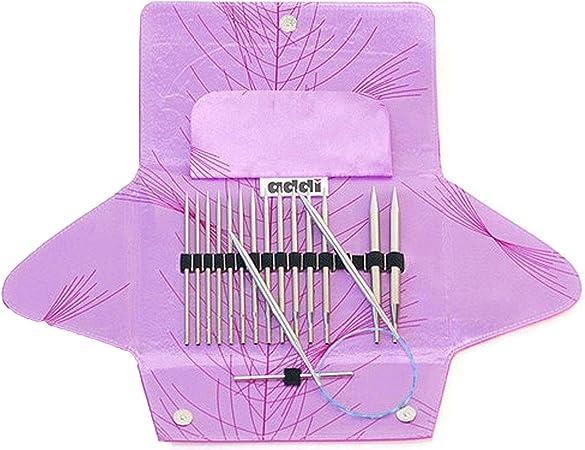 1 Artsiga Crafts Project Bag addi Click Lace Short Tip Interchangeable Circular Knitting Needle System addi Bundle