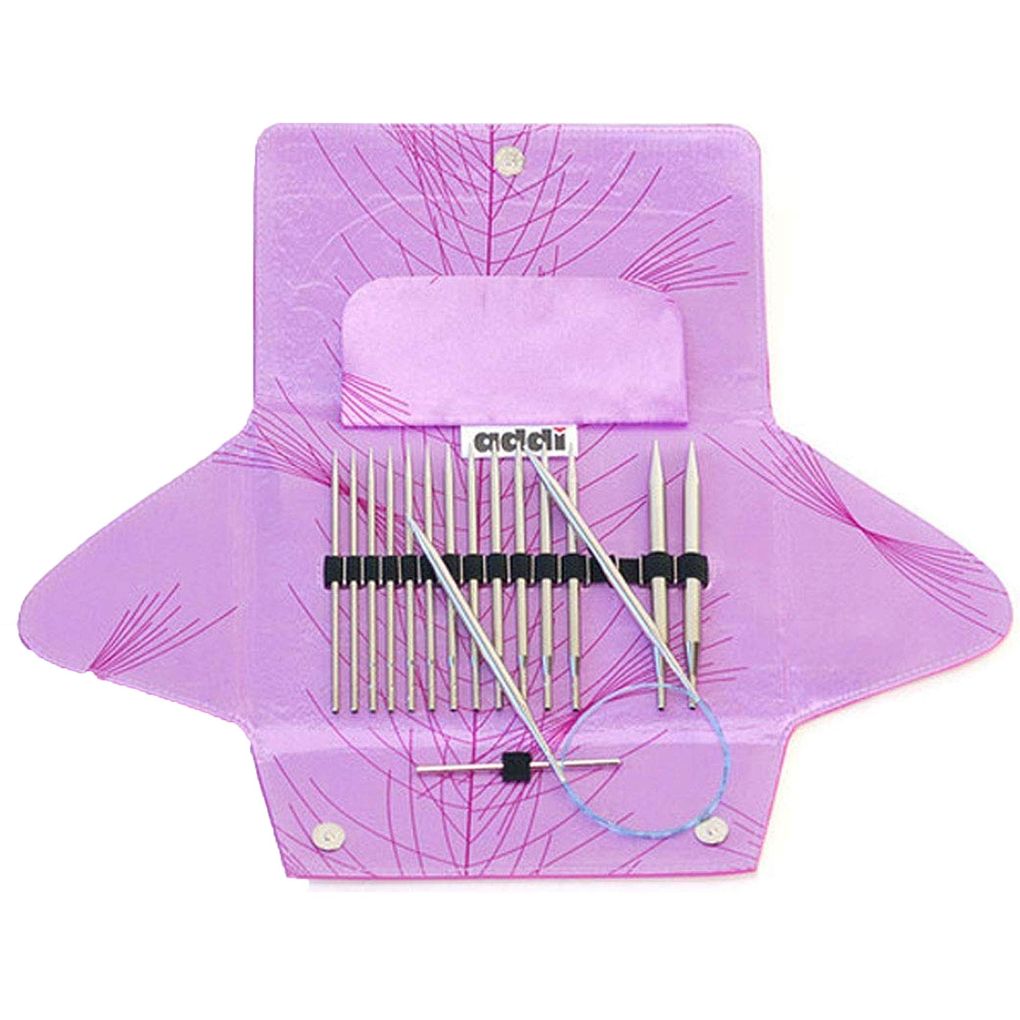 addi Click Standard Rocket Lace Long Tip Interchangeable Circular Knitting Needle System with Exclusive Blue Cords by addi (Image #1)