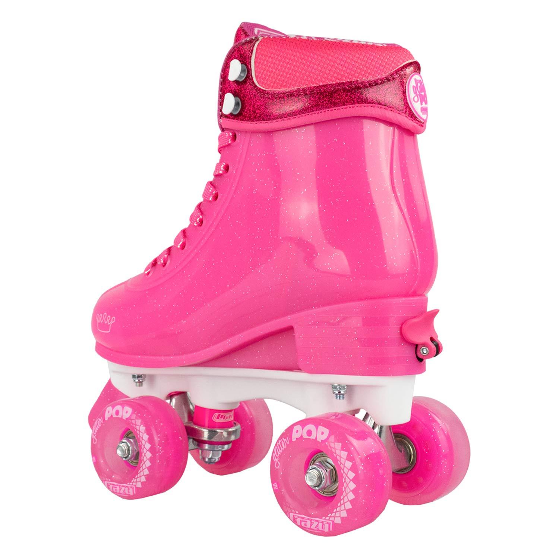 Crazy Skates Glitter POP Adjustable Roller Skates for Girls and Boys   Size Adjustable Quad Skates That Fit 4 Shoe Sizes   Pink (Sizes 3-6) by Crazy Skates (Image #7)
