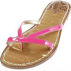 Sam & Libby Womens Kori Double Strap Slide Sandal