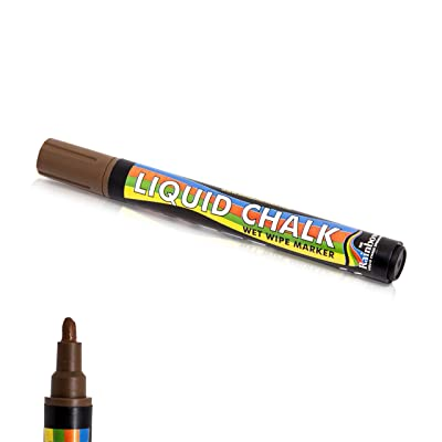 Rainbow Liquid Chalk Marker Pen Brown - Paint on Chalkboard, Blackboard Wet Erase Washable Colored Pens : Office Products