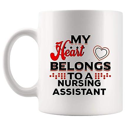 Amazon.com: My Heart Belong Nursing Assistant Mug Nurse ...