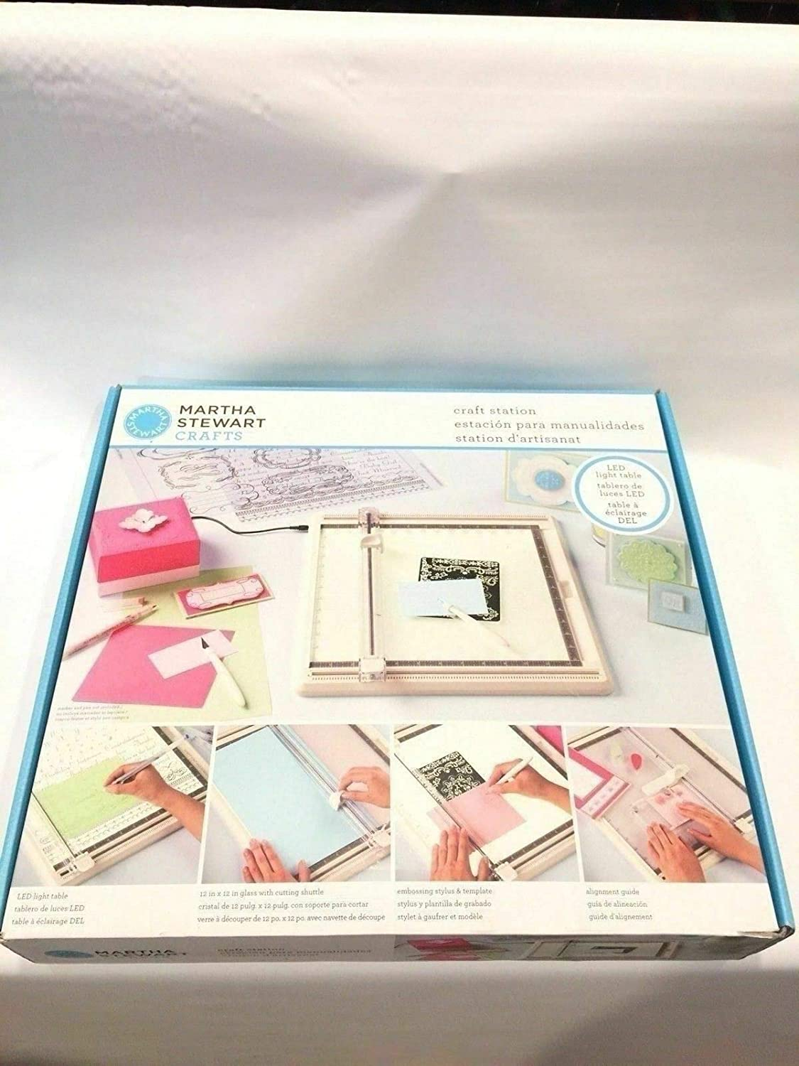 Amazon.com : Martha Stewart Crafts Station Light Box Paper Trimmer Embossing Discontinued : Everything Else