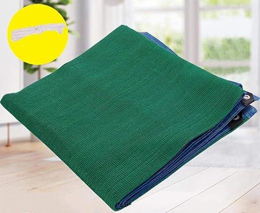 QingJu Tela De Sombra 95% Bloqueador Solar para Patio/Plantas de jardín/Terraza/Coches Malla Red Respirable con Ojales Malla Sombra, Verde Claro, 2x4米: Amazon.es: Jardín