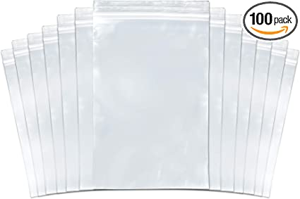"""300 3x4 Reclosable Resealable Clear Zip Lock Plastic Bag 4 Mil 3/""""x4/"""" inch Thick"""