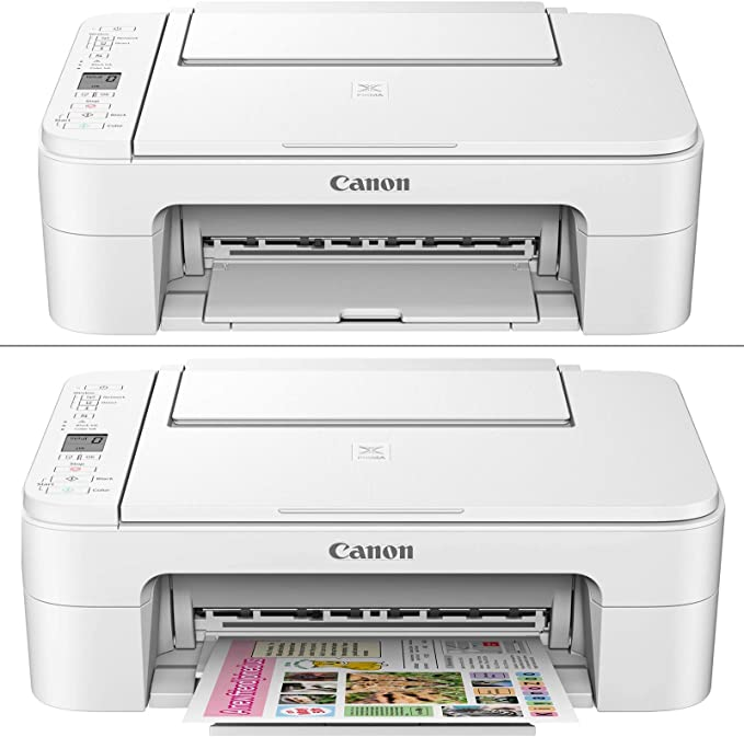 USB Printer Cable Copy Canon Wireless Inkjet Printer PIXMA TS3120 All-in-One Compact Printer for Home Use with Print + Set of Ink Tanks White 2 HeroFiber Ultra Gentle Cleaning Cloths Scan