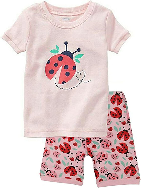 Babyfashion Pigiama Pantaloncini 2 Pezzi di Coccinella Sia Par Bambino Sia per Ragazzo Sono 100/% di Cotone da 2 Anni Fino a 10 Anni
