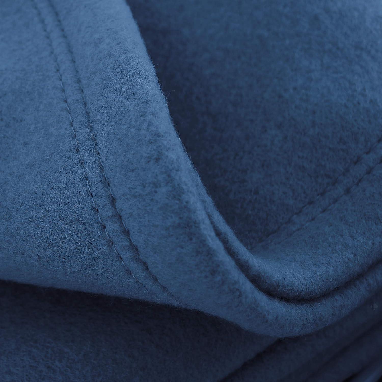 Linnea Couverture Polaire 220x240 cm Isba Marine 100/% Polyester 320 g//m2 trait/é Non-feu