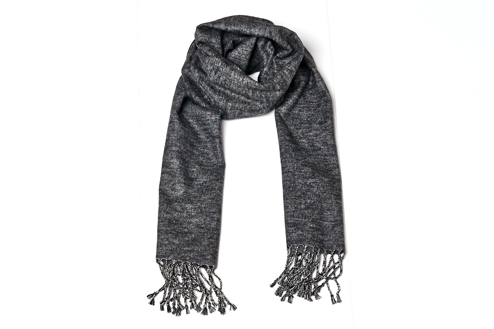 High Style 100% Brushed Pure Silk Men and Women Long Solid Scarf (Grey, Z33) by High Style