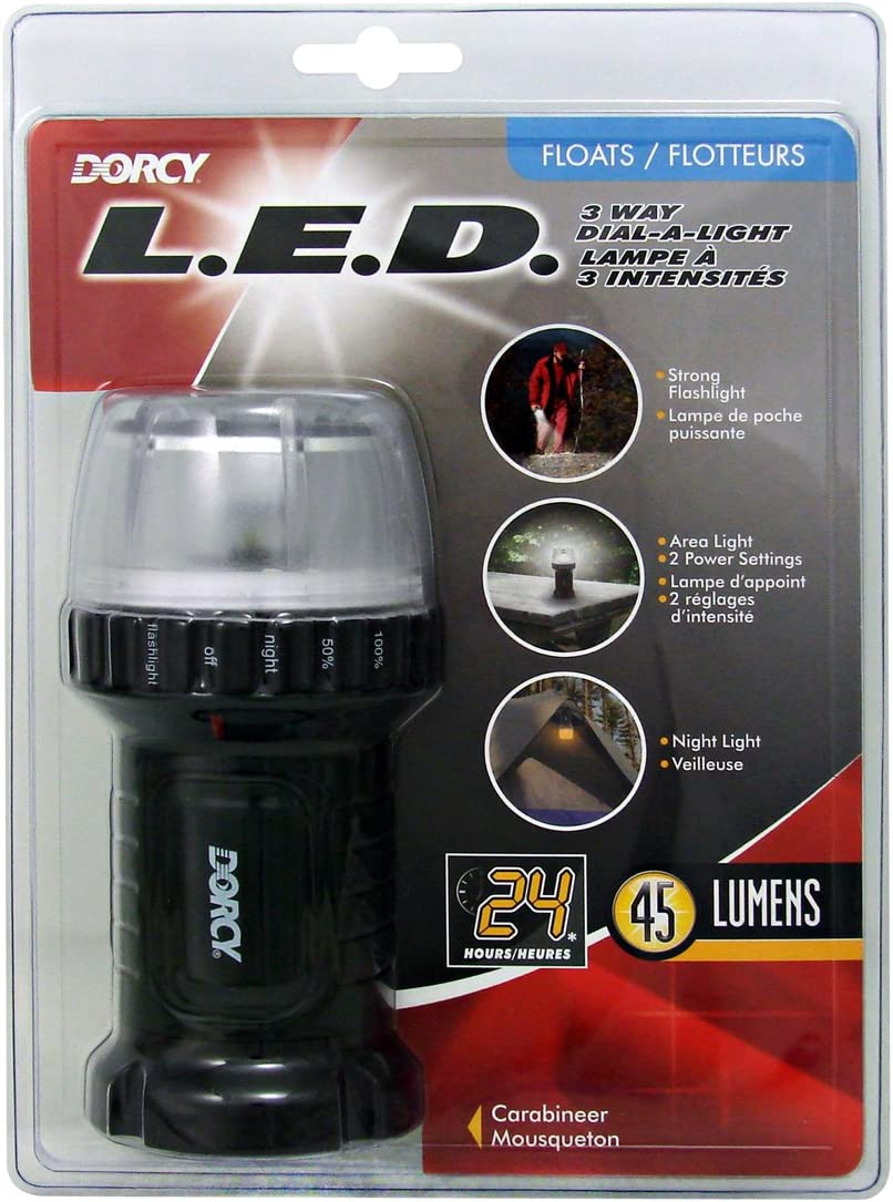 Dorcy 100 Lumen LED Multi-Function Camping Lantern with Dial-a-Ligh Feature and 2 Power Modes 41-4218