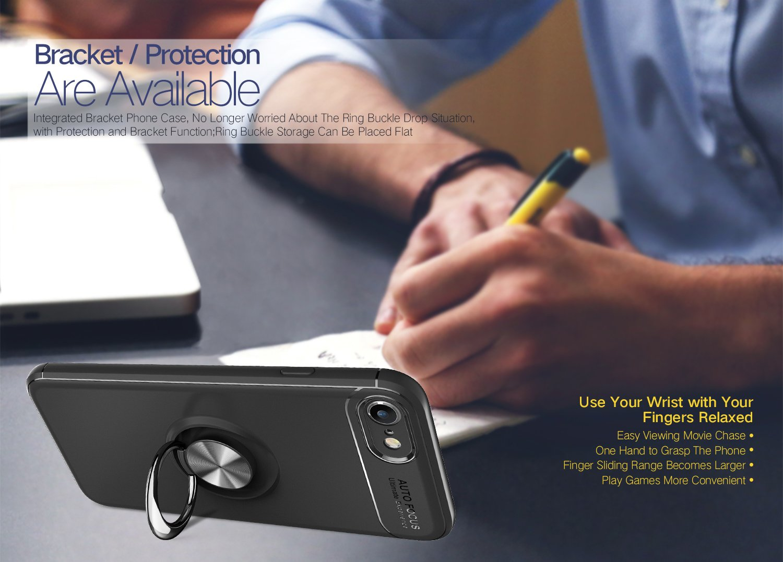 iPhone SE Handyh/ülle Ring Kickstand Silikon Cover 360 Grad Drehbarer St/änder Magnet Ring Ros/é Gold Mosoris iPhone 5S H/ülle Sto/ßfest R/üstung Schutzh/ülle Bumper Tasche Case f/ür iPhone 5,Schwarz