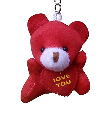 6ec09ae67d47 Solidindia Craft Red Teddy Keyring   Keychain  Amazon.in  Bags ...