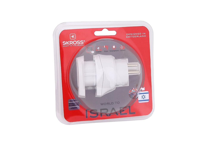 Skross ZUB-SKR-CNT-W.IL.W color blanco Adaptador de enchufe europeo para Israel